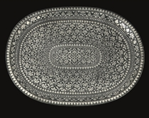 A BIDRIWARE TRAY, INDIA, 18TH CENTURY