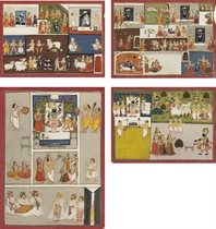 FOUR ILLUSTRATIONS FROM A MANUSCRIPT ON THE WORSHIP SRINATHJ
