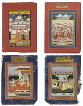 A GROUP OF PAINTINGS FROM SEVERAL RAGAMALA SERIES, JAIPUR, F