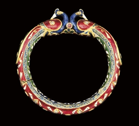 A GEM-SET POLYCHROME ENAMELLED