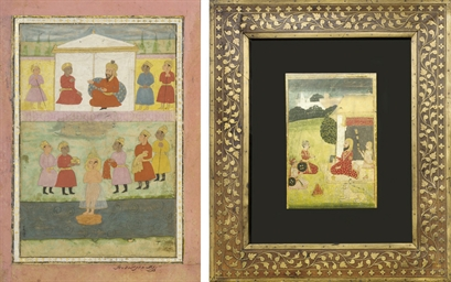 A GROUP OF SEVEN INDIAN PAINTI