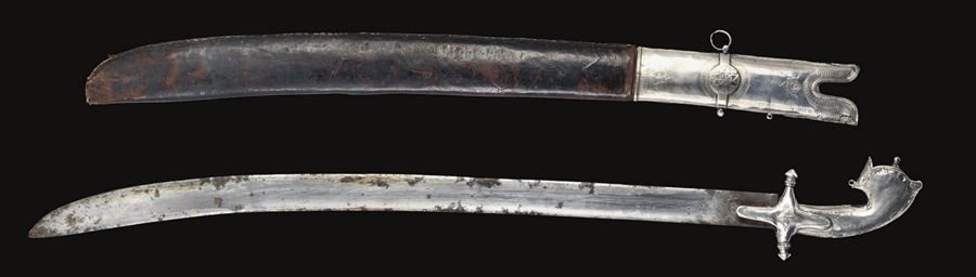 A SILVER MOUNTED SWORD, OMAN,