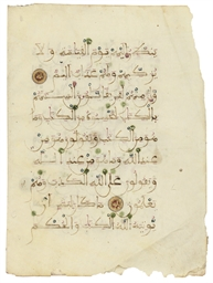 A BIFOLIUM FROM A QUR'AN, ANDA