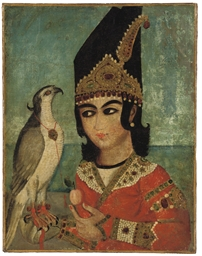A QAJAR PORTRAIT OF A PRINCE A