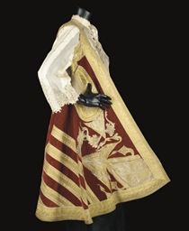 A COURT ROBE AND ACCESSORIES
