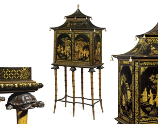 A REGENCY BLACK-AND-GILT JAPAN