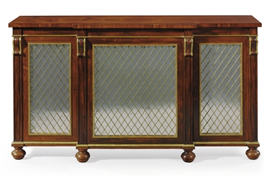 A REGENCY ROSEWOOD, GRAINED AN