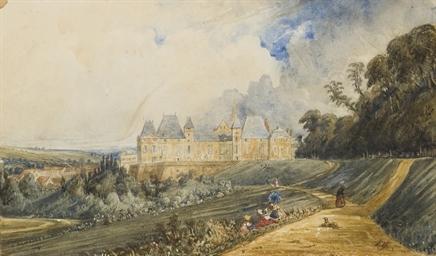 Vue du château d'Eu