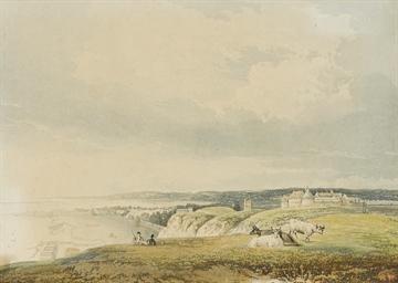 Vue de Dieppe et son Château
