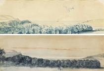 Deux vues du Tréport prises du château d'Eu