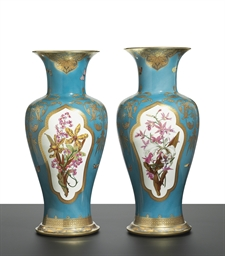 A PAIR OF SEVRES (SECOND EMPIR