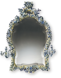 A MONUMENTAL MEISSEN BLUE AND