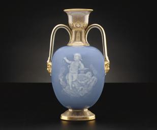 A MEISSEN PATE-SUR-PATE BLUE,