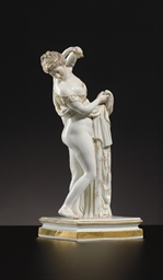 A MEISSEN FIGURE OF A CLASSICA