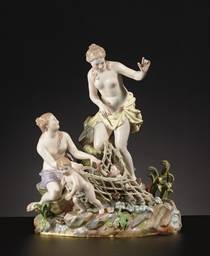 A MEISSEN FIGURE GROUP, 'CAPTU