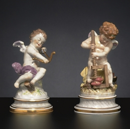 TWO MEISSEN FIGURES OF CUPID