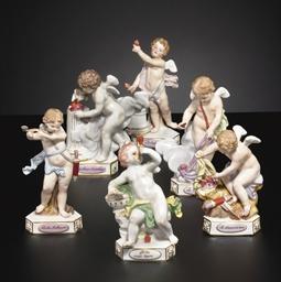 SIX MEISSEN MODELS OF DEVISENK
