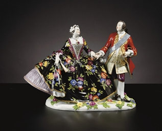 A MEISSEN (OUTSIDE-DECORATED)