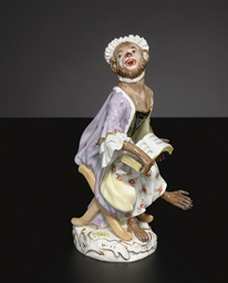 A MEISSEN MONKEY BAND, 'AFFENK