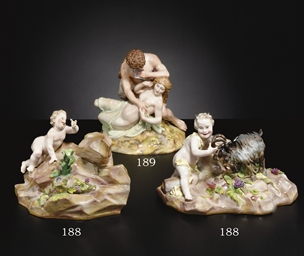 A MEISSEN FIGURE GROUP OF BACC