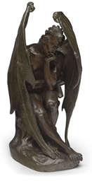 A FRENCH BRONZE FIGURE OF SATA