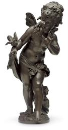 A FRENCH BRONZE FIGURE OF PSYC