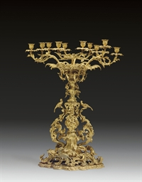 A FRENCH ORMOLU FIGURAL CENTRE