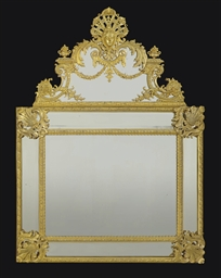 A FRENCH ORMOLU MIRROR