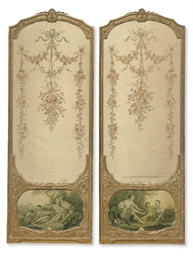 A PAIR OF FRENCH GILTWOOD PANE