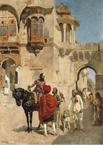 Departure for the Hunt in the Forecourt of a Palace of Jodhpore
