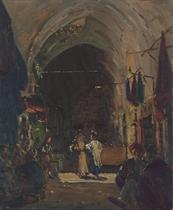 A Market Scene in the Jewish Quarter, Jerusalem
