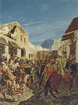 Musiciens juifs dans les rues de Tétuan