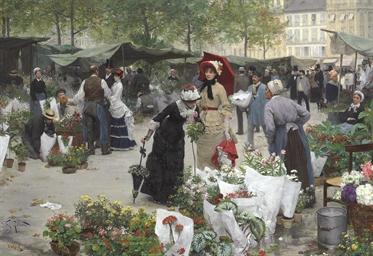 Le marché des fleurs