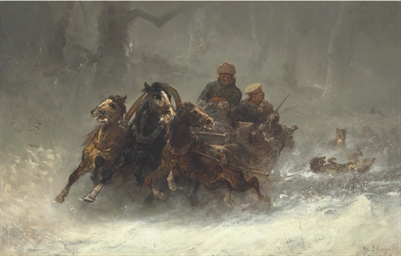A Troika Pursued by Wolves