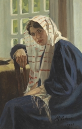 A Russian Girl in a Shawl
