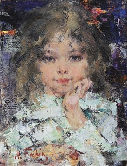 Nicolai fechin 1881 1955 young girl early 20th for Nicolai fechin paintings for sale