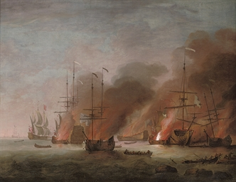 The burning of the French flag