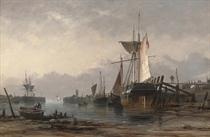 Low water: Newhaven Harbour, Sussex