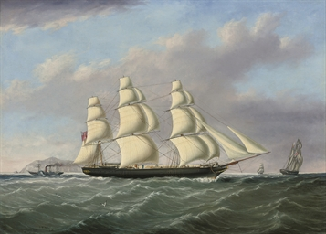 An outward-bound merchantman p