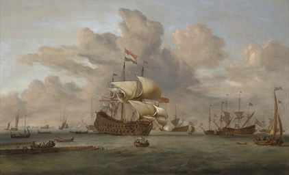 A Dutch flagship receiving a s