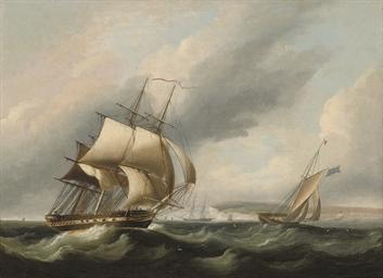 Vessels in a stiff breeze off