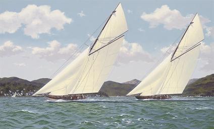 Vigilant and Britannia racing