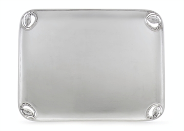 A DANISH SILVER TRAY DESIGNED