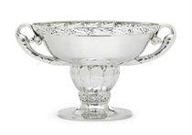 A RARE DANISH SILVER CENTERPIECE BOWL DESIGNED BY GEORG JENSEN