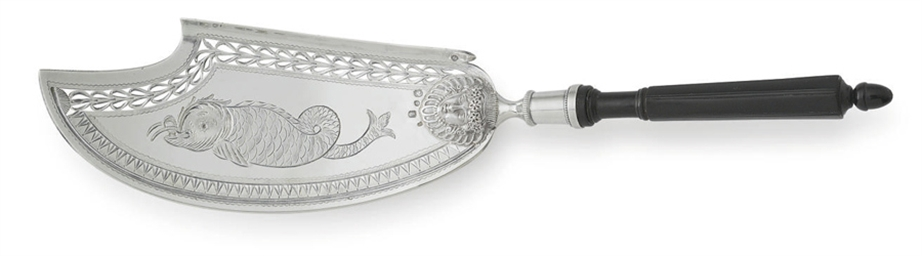 A FRENCH SILVER FISH SLICE