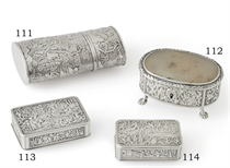 A CHINESE EXPORT SILVER SNUFFBOX