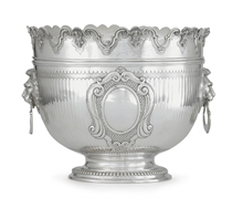 A VICTORIAN SILVER MONTEITH BOWL