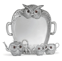A VICTORIAN SILVER NOVELTY TEA SERVICE AND TRAY**