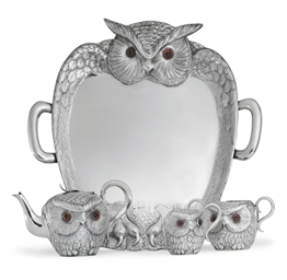 A VICTORIAN SILVER NOVELTY TEA