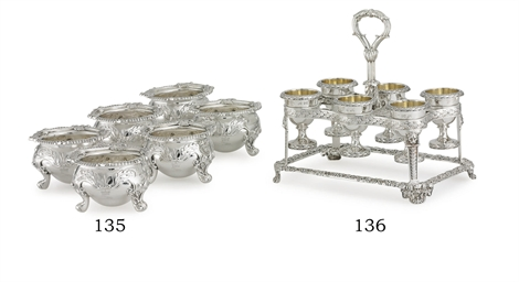 A SET OF SIX REGENCY SILVER SA
